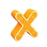 List robić od pomarańcze Zdjęcia Stock