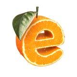 List robić od pomarańcze Zdjęcia Royalty Free