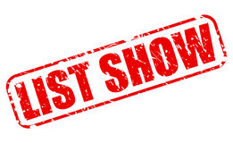 List show red stamp text Stock Image