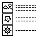 List sign icon. Content view option royalty free illustration