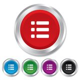 List sign icon. Content view option symbol. Stock Photography