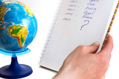 List of travels - where to go? Stock Photography
