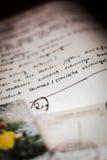 List w niemiec Obrazy Stock