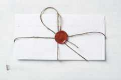 List z foką na stole Obrazy Stock