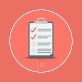 lista Fotografia Stock Libera da Diritti