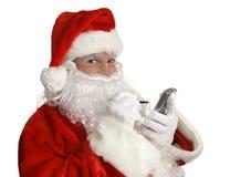 Lista agradável de Santa em PDA Fotos de Stock Royalty Free