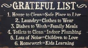Lista agradecida blanco y negro foto de archivo
