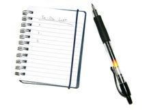 Lista & penna di Todo Immagini Stock