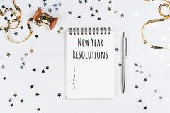 Lista av upplösningar för nytt år Fotografering för Bildbyråer
