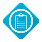 Lista azul del tablero del icono con la sombra larga Fotografía de archivo