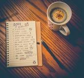 Lista da definição do ano novo Fotografia de Stock