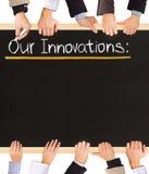 Lista das inovações Imagem de Stock Royalty Free