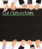 Lista das motivações Foto de Stock