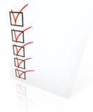 Lista de comprobación Imágenes de archivo libres de regalías