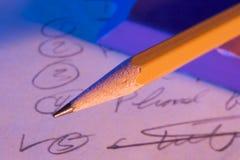 Lista de comprobación Imagen de archivo