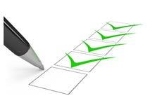 Lista de comprobación. ilustración del vector