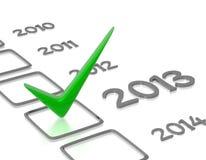 Lista de comprobación con la verificación verde Imagen de archivo libre de regalías