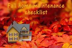 Lista de control casera del mantenimiento para la temporada de otoño ilustración del vector