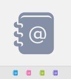 Lista de endereços - ícones do granito ilustração stock