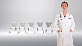 Lista de espera para el doctor Imágenes de archivo libres de regalías