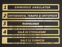 Lista de gabinetes en odontología Fotografía de archivo libre de regalías