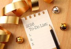 Lista 2016 de lío Fotografía de archivo