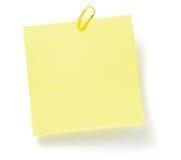 Lista de lío con el paperclip Imagen de archivo libre de regalías