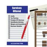 Lista de la empresa de contabilidad de servicios libre illustration