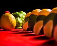 Lista de la fruta cítrica Imagen de archivo