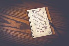Lista de la resolución del Año Nuevo Imagenes de archivo