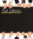 Lista de las ideas Imagen de archivo