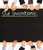 Lista de las invenciones Imagen de archivo libre de regalías