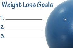 Lista de las metas de la pérdida de peso Fotografía de archivo