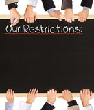 Lista de las restricciones Imagen de archivo