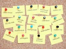Lista de lío Imágenes de archivo libres de regalías