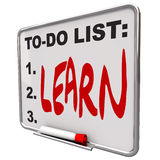 Lista de lío - aprenda - seque a la tarjeta del Erase Fotografía de archivo libre de regalías
