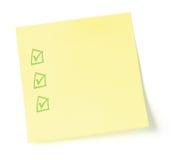 Lista de lío en blanco con los checkboxes Foto de archivo libre de regalías