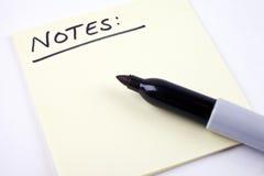 Lista de notas Imágenes de archivo libres de regalías