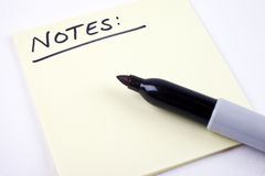 Lista de notas Imagens de Stock Royalty Free