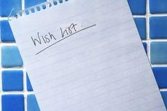 Lista de objetivos Foto de archivo libre de regalías