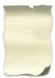 Lista de papel Imagem de Stock