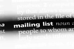 lista de personas a quienes se mandan propaganda foto de archivo libre de regalías