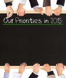 Lista de prioridades Imagem de Stock