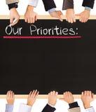 Lista de prioridades Imagen de archivo libre de regalías