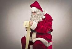 Lista de regalo larga Foto de archivo libre de regalías