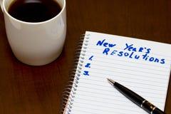 Lista de resolución del Año Nuevo conceptual Imagen de archivo libre de regalías