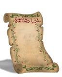 Lista de Santa no rolo velho do pergaminho Fotografia de Stock Royalty Free