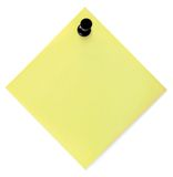 Lista de tumulto amarela em branco com Pushpin Fotografia de Stock Royalty Free