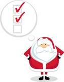 Lista de tumulto de Santa Foto de Stock Royalty Free