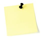 Lista de tumulto em branco com pushpin Imagens de Stock